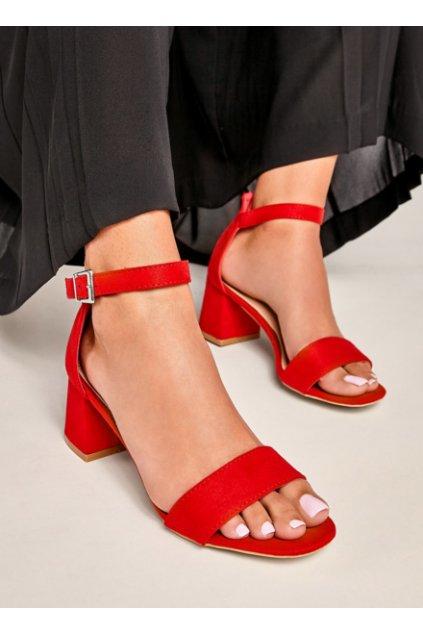 czerwone sandalki na srednim obcasie destino 2591143 390013 2