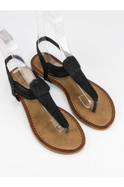 Čierne sandále žabky s gumičkou NJSK ALS023B