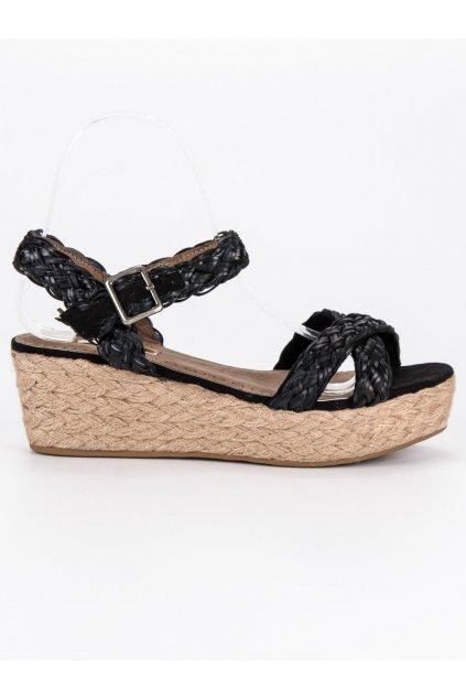 Čierne sandálky espadrilky C6353NE