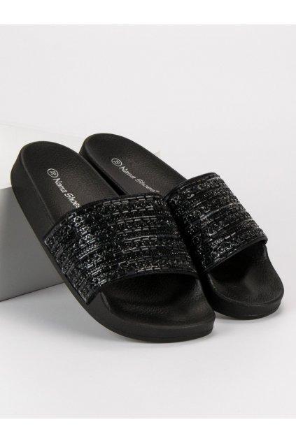 Elegantné vsuvky na leto čierne PM1030B