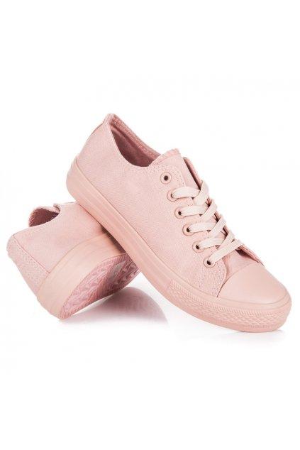 Svetlo ružové plátené tenisky Seastar
