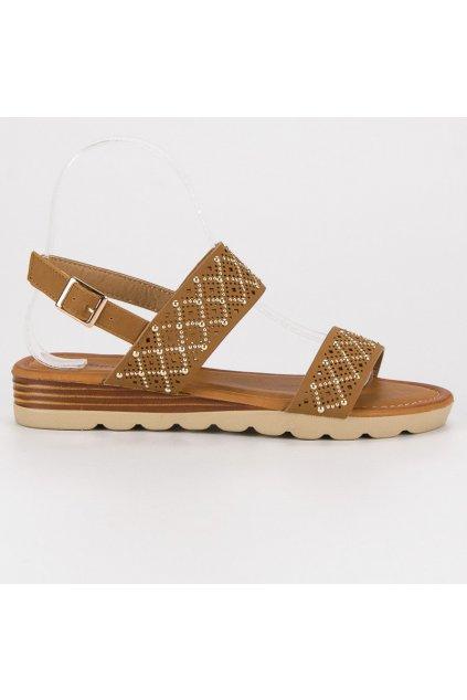 Ažurové nízke sandále béžové A78/TA