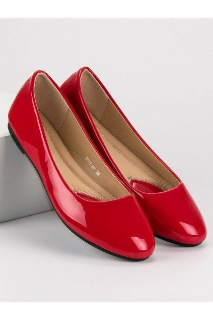 Lakované baleríny červené 9988-60R