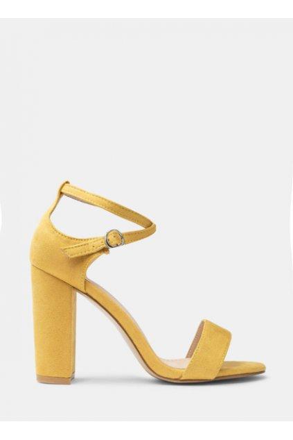 Žleté sandále na opätku Courie