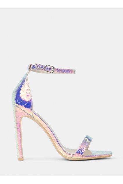 Metalické sandále Shining Bright