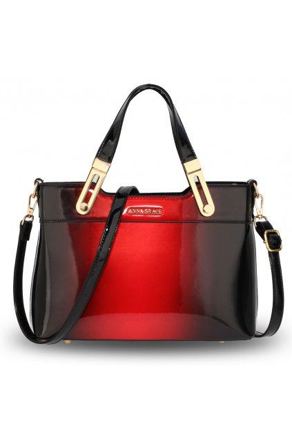 Lakovaná kabelka do ruky Gracie červená AG00678