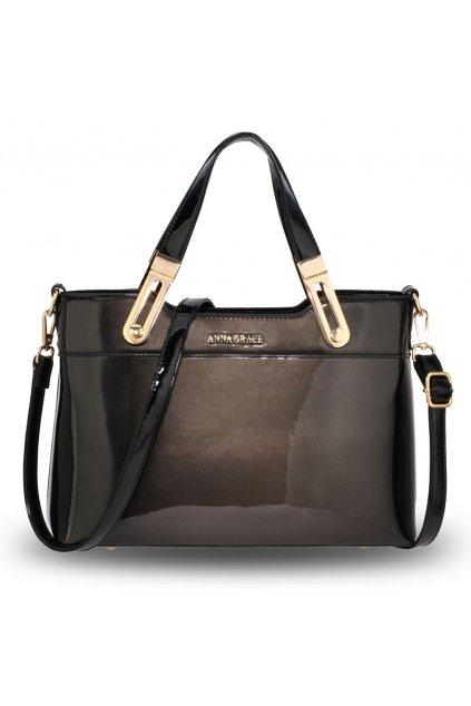 Lakovaná kabelka do ruky Gracie čierna AG00678