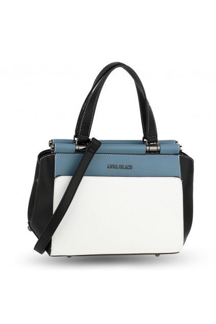 Trendy kabelka do ruky Georgia biela / čierna / modrá AG00694