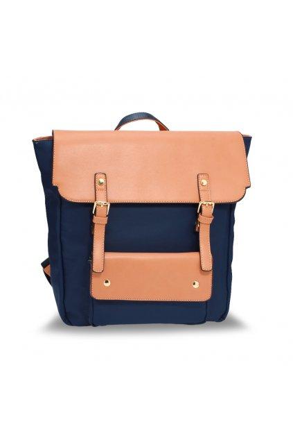Dvojfarebný ruksak Lilianna telová / námornícka AG00617
