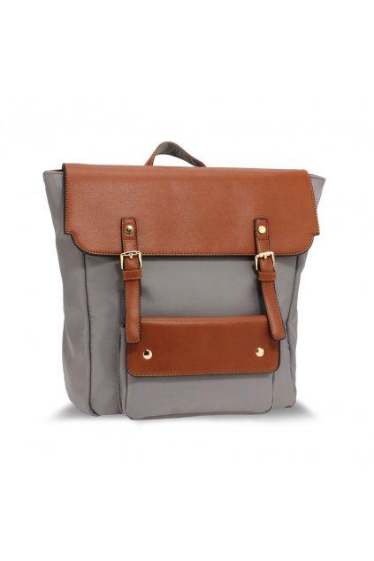 Dvojfarebný ruksak Lilianna sivá / zhnedá AG00617