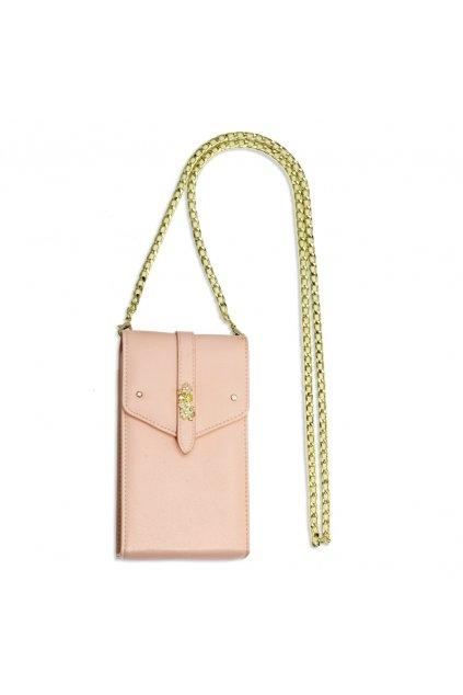 Crossbody ružová kabelka Kimberly AG00636