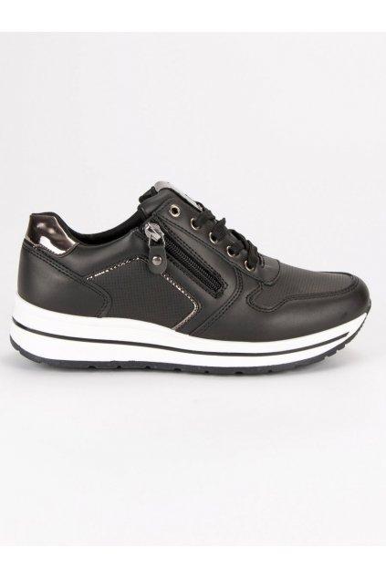 Športové topánky čierne na jeseň 2802B