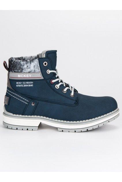 Pohodlné dámske topánky na zimu modré TR401/17N