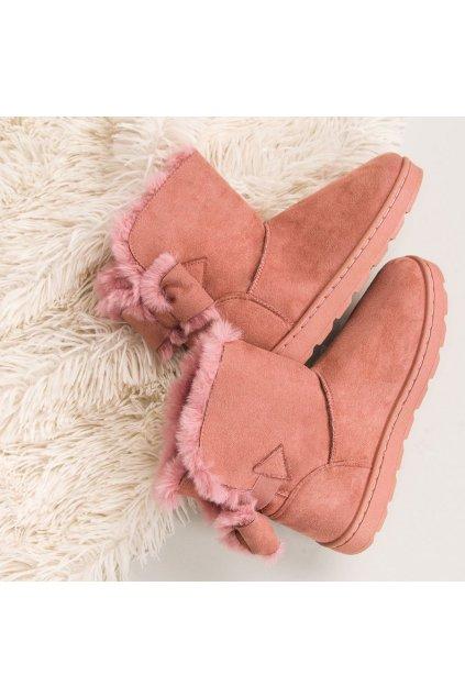 Ružové dámske snehule LT923P