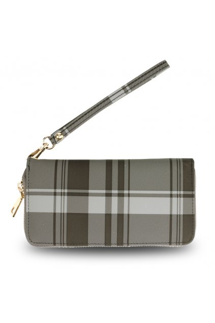 Károvaná čierna peňaženka Kaylyn AGP5010