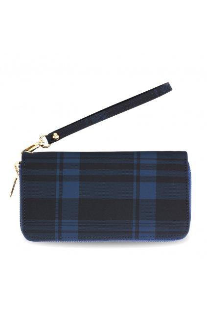 Károvaná námornícka modrá peňaženka Kaylyn AGP5010