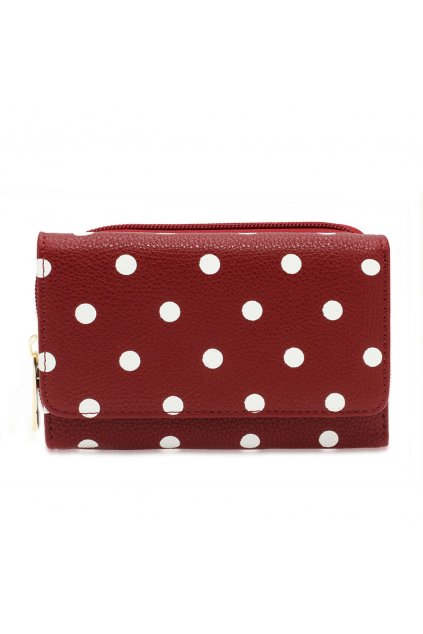 Červená peňaženka pre ženy Polka Dot AGP1045B