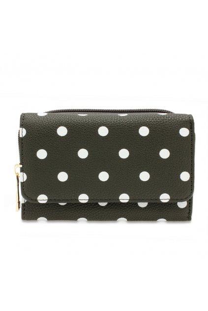 Sivá peňaženka pre ženy Polka Dot AGP1045B