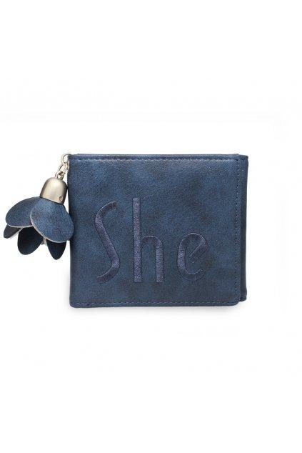 Modrá peňaženka pre ženy Trifold AGP1104