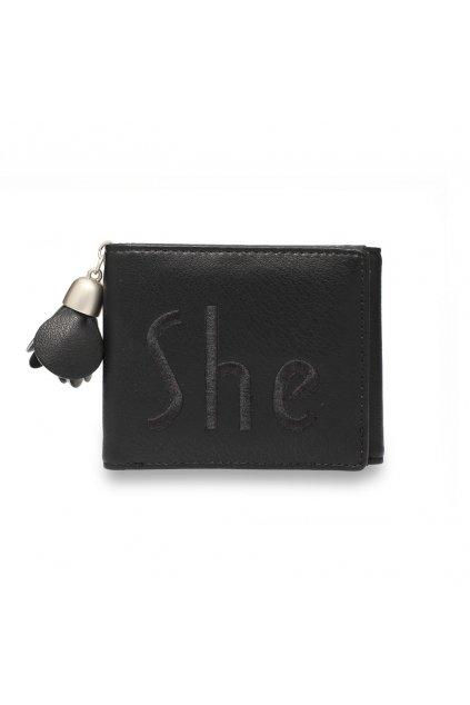 Čierna peňaženka pre ženy Trifold AGP1104