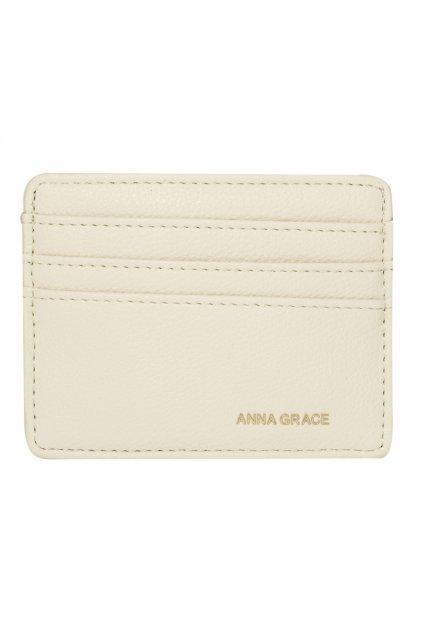 Slonovinová biela peňaženka pre ženy Grace card AGP1120