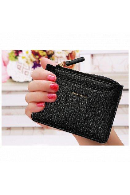 Čierna peňaženka pre ženy Coin Puch AGP1109
