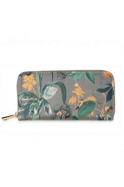 Sivá peňaženka pre ženy Floral Print AGP1108