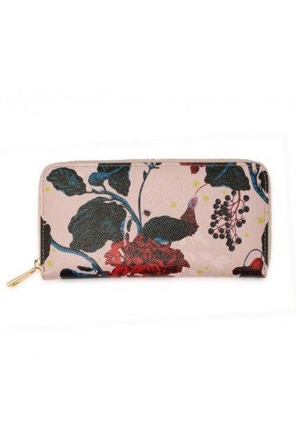 Ružová peňaženka pre ženy Floral Print AGP1108