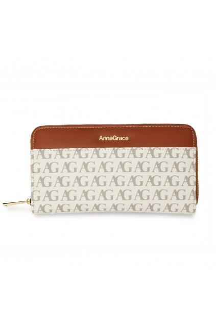 Biela peňaženka pre ženy Anna Grace AGP1107