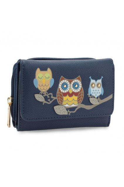 Námornícka modrá peňaženka pre ženy AG Sovy AGP1101