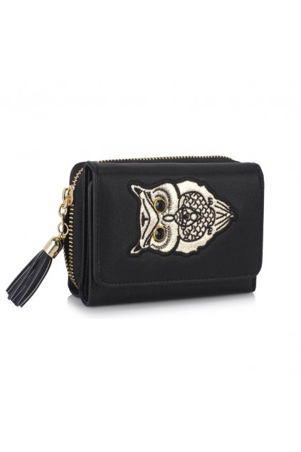 Čierna peňaženka pre ženy AG Sovy LSP1080