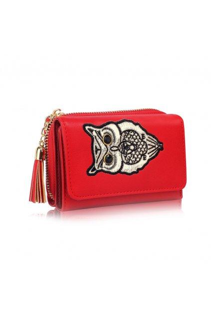 Červená peňaženka pre ženy AG Sovy LSP1080