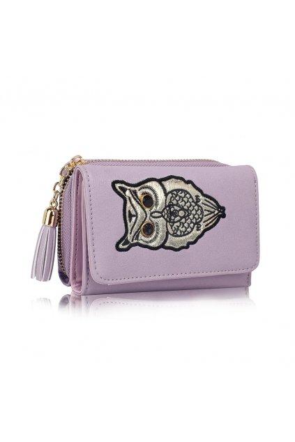 Fialová peňaženka pre ženy AG Sovy LSP1080