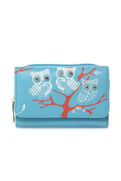 Modrá peňaženka pre ženy AG Sovy AGP1045