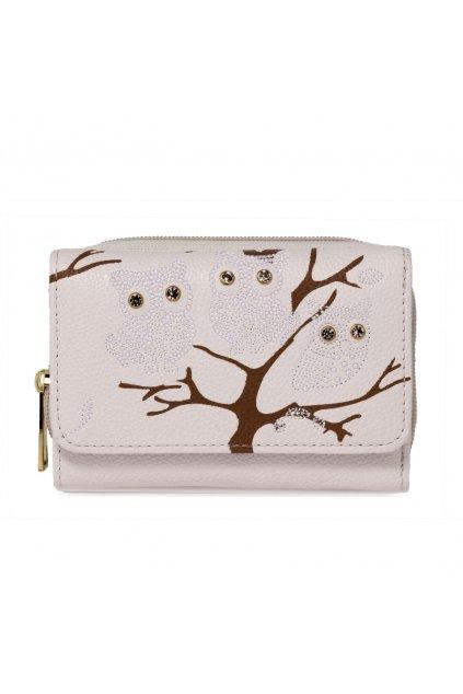 Slonovinová biela peňaženka pre ženy AG Sovy AGP1045