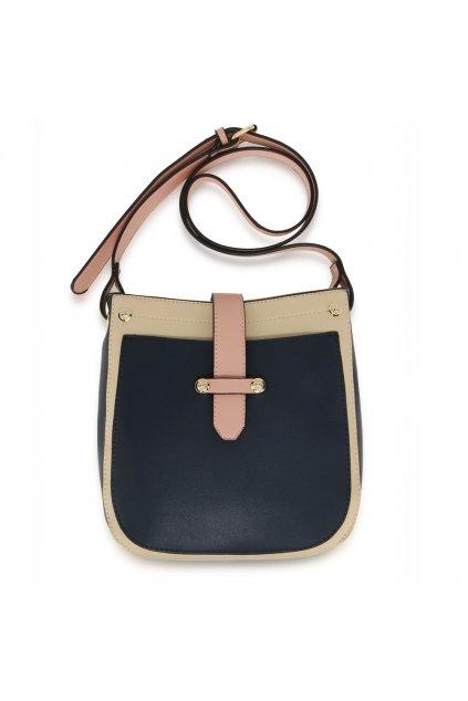 Crossbody kabelka béžová / námornícka modrá / ružová Kyla AG00684