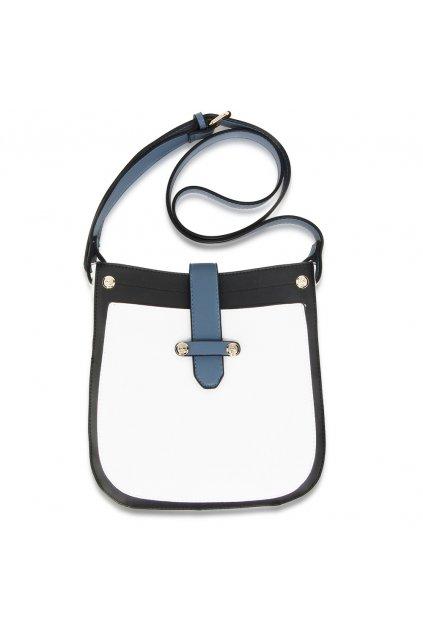 Crossbody kabelka biela / čierna / modrá Kyla AG00684