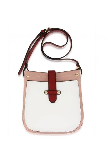 Crossbody kabelka biela / ružová / bordová Kyla AG00684