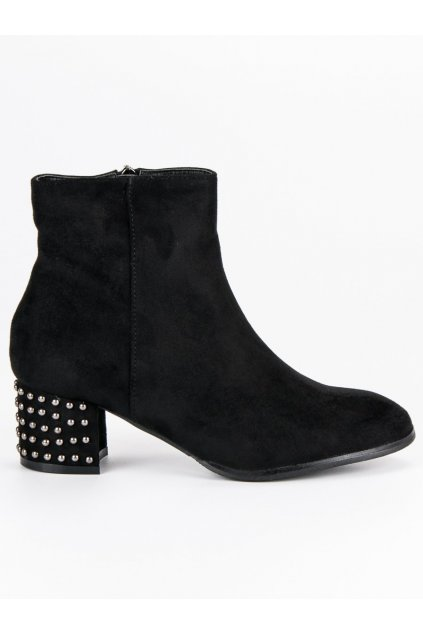 Elegantné semišové čierne topánky DBT540/18B