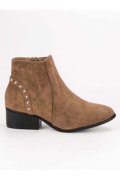 Béžové semišové topánky casual CnB