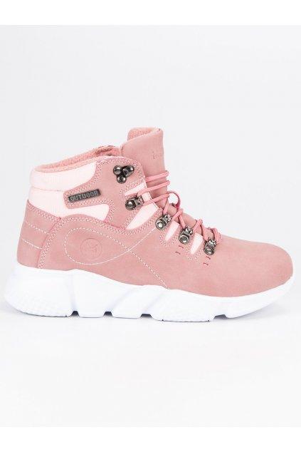 Zeteplené dámske ružové trapery MCKEYLOR