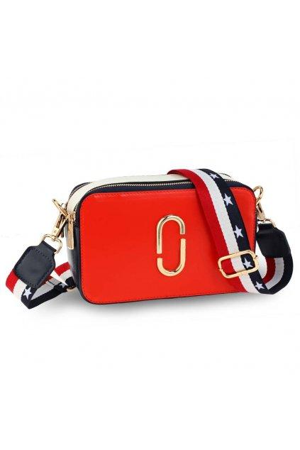 Crossbody kabelka červená / biela / námornícka Alex AG00726