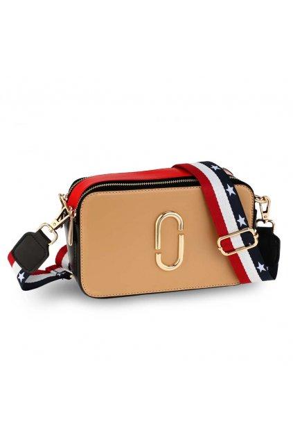 Crossbody kabelka telová / červená / čierna Alex AG00726