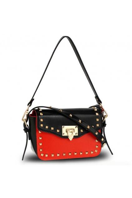 Crossbody kabelka čierna / červená Mandy AG00722