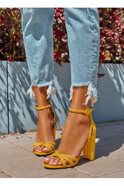 damske zlte sandale