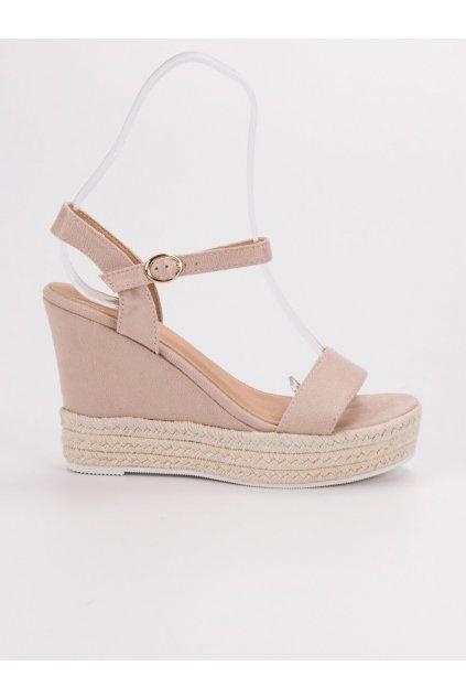 Béžové sandále na platforme Ideal shoes JS-2952BE