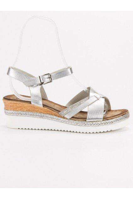 Sivé dámske sandále na platforme Evento 9SD35-0993S