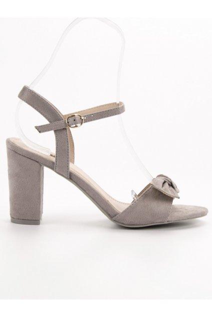 Sivé dámske sandále na stĺpiku Jumex GH1508G