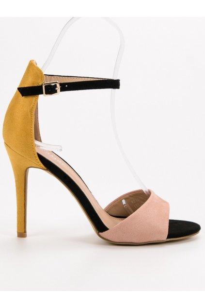 Viacfarebné dámske sandále na ihlovom opätku Seastar WD100Y