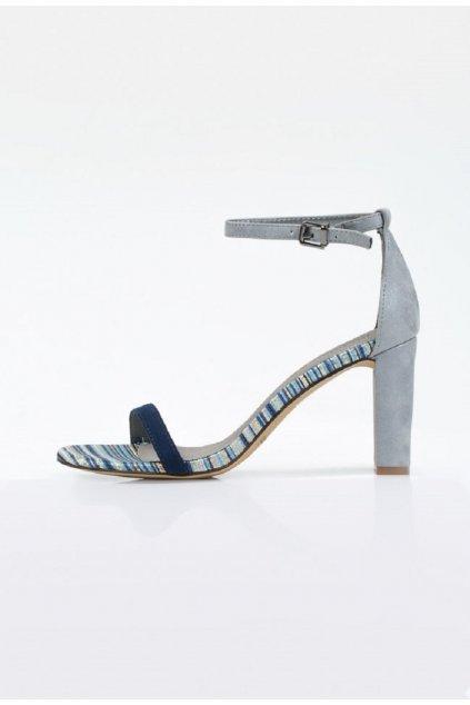 modre sandale monnari na vysokom opatku